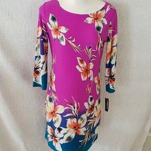 floral colorful shift dress slip on